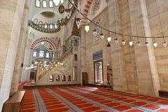 Suleymaniye清真寺在伊斯坦布尔土耳其-内部-讲坛 免版税图库摄影