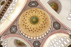 Suleymaniye清真寺在伊斯坦布尔土耳其-圆顶 图库摄影
