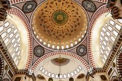Suleymaniye清真寺在伊斯坦布尔土耳其-圆顶 库存照片