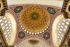 Suleymaniye清真寺在伊斯坦布尔土耳其-圆顶 免版税图库摄影