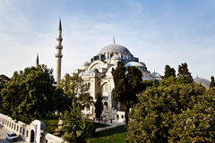 Suleymaniye清真寺在伊斯坦布尔土耳其 免版税库存图片