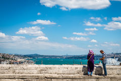 从Suleymaniye清真寺的看法 免版税库存照片
