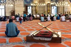 Suleymaniye清真寺,普遍的地标在伊斯坦布尔,土耳其 图库摄影