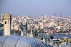 Suleymaniye清真寺, Halic,伊斯坦布尔 库存照片