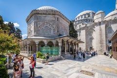 Suleymaniye清真寺 免版税库存照片