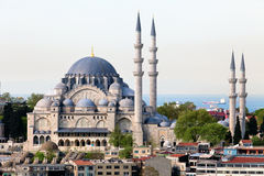 The Suleymaniye Camii mosque in the center of Ista royalty free stock image