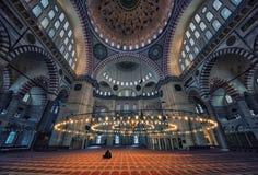 Suleymaniye Camii mosque in Istanbul. Inside the Suleymaniye mosque in Istanbul Royalty Free Stock Photos
