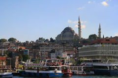 Suleymaniye Camii view from water, Istanbul Stock Photo