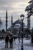 Suleymaniye. Istanbul snow stock images