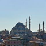 Suleymaniye meczet jest Osmańskim cesarskim meczetem w Istanbuł, Turcja Ja jest wielkim meczetem w mieście Zdjęcia Royalty Free
