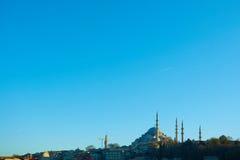 Suleymaniye meczet jest Osmańskim cesarskim meczetem w Istanbuł, Turcja Ja jest wielkim meczetem w mieście Obraz Royalty Free