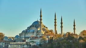 Suleymaniye meczet jest Osmańskim cesarskim meczetem w Istanbuł, Turcja Ja jest wielkim meczetem w mieście Zdjęcie Stock