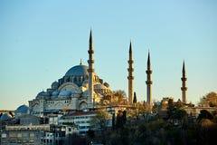 Suleymaniye meczet jest Osmańskim cesarskim meczetem w Istanbuł, Turcja Ja jest wielkim meczetem w mieście Fotografia Stock
