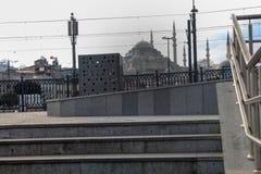 Suleymaniye Meczetowi schodki w Eminonu Istanbuł obraz royalty free