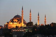 Suleymaniye moské i den Istanbul staden Fotografering för Bildbyråer