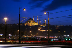 Suleymaniye moské på Istanbul Arkivbilder