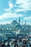 Suleymaniye moské - Suleymanice Camii Istanbul arkivfoton