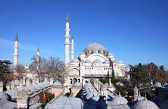 Suleymaniye moské (Suleymaniye Cami) Arkivbild