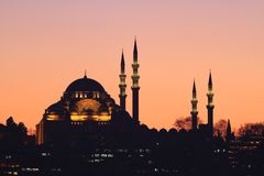 Suleymaniye Mosque Royalty Free Stock Image