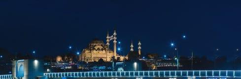Suleymaniye Mosque And The Bridge Royalty Free Stock Photo