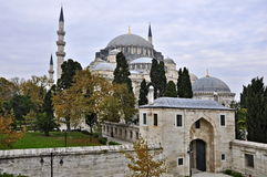 Suleymaniye mosque. The Suleymaniye crowns one of İstanbul`s seven hills and dominates the Golden Horn, providing a landmark for the entire city Stock Images