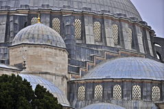 Suleymaniye mosque. The Suleymaniye crowns one of İstanbul`s seven hills and dominates the Golden Horn, providing a landmark for the entire city Royalty Free Stock Photography