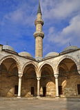 Suleymaniye Mosque. The Suleymaniye crowns one of İstanbul`s seven hills and dominates the Golden Horn, providing a landmark for the entire city Royalty Free Stock Photos