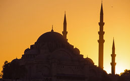Suleymaniye mosque at dawn Stock Images