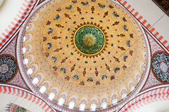 Suleymaniye Mosque Dome Interior Stock Photography
