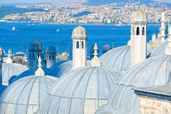 Suleymaniye Mosque domes Royalty Free Stock Photo