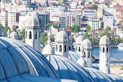 Suleymaniye Mosque domes. Close up. Istanbul Stock Photography