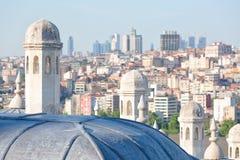Suleymaniye Mosque domes close up Stock Photo