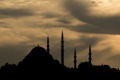 Suleymaniye Mosque. At the dusk Stock Images