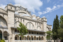 Suleymaniye Mosque in Fatih district of Istanbul, Turkey Royalty Free Stock Photography