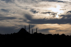 Suleymaniye Mosque. At golden hour Royalty Free Stock Photography