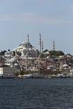 Suleymaniye Mosque from Goldenhorn Stock Photography