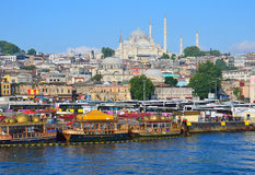 Suleymaniye Mosque. And Historic Areas in Istanbul Royalty Free Stock Photo