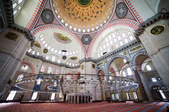 Suleymaniye Mosque Interior Royalty Free Stock Image