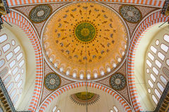 Suleymaniye Mosque interior detail Royalty Free Stock Photography
