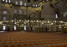 Suleymaniye Mosque interior Stock Photo