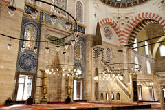 Suleymaniye Mosque interior - pulpit Royalty Free Stock Images