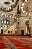 Suleymaniye Mosque interior - pulpit. Suleymaniye Mosque (Ottoman Imperial mosque) interior ornate architecture in Istanbul, Turkey Royalty Free Stock Photos
