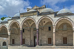 Suleymaniye Mosque, Istanbul. Arcade in Courtyard of the Suleymaniye Mosque in Istanbul, Turkey Royalty Free Stock Image