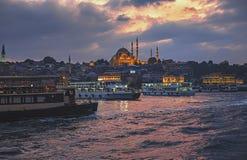 Suleymaniye Mosque, Istanbul At Sunset Stock Images