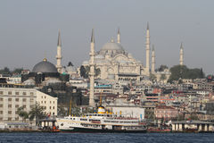 Suleymaniye Mosque in Istanbul City Royalty Free Stock Image
