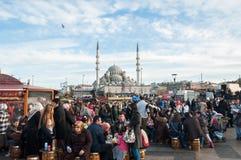 Suleymaniye Mosque, Istanbul. The crowd around Suleymaniye Mosque, Istanbul Stock Image