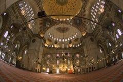 Suleymaniye Mosque - Istanbul - Turkey. The interior of the Suleymaniye Mosque in the city of Istanbul in Turkey Royalty Free Stock Images