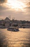 Suleymaniye Mosque. The Suleymaniye Mosque in Istanbul Turkey Royalty Free Stock Photo