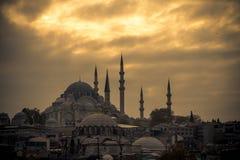 Suleymaniye Mosque. The Suleymaniye Mosque in Istanbul Turkey Royalty Free Stock Photography
