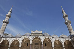 Suleymaniye Mosque in Istanbul Turkey - inner court Royalty Free Stock Image